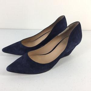 Belle Sigerson Morrison Wedge Heels navy Blue 6.5